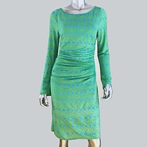 Tracy Reese New York Dress Size Large Green Blue